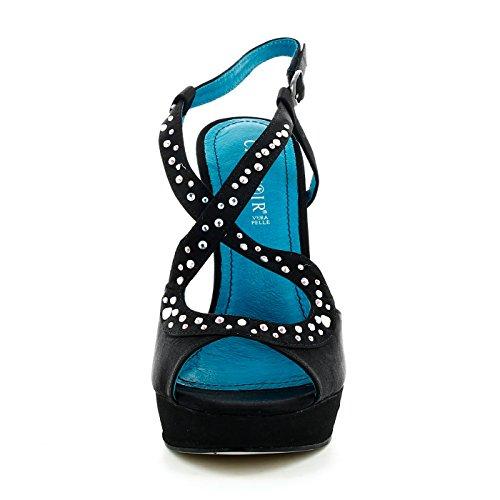 Cafè Noir Damen High heel sandaletten Schwartz