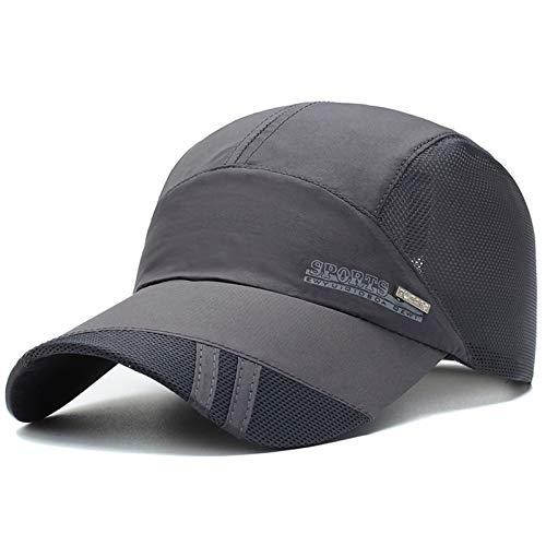 SonMo Unisex Sonnenhut Schnelltrocknende Schirmmütze Mesh Mütze Sommerhut Sonnenhüte Männer Und Frauen UV Schutz Snapback Caps Sonne Hüte Dunkelgrau