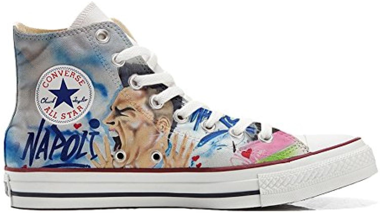 mys Converse All Star Customized Unisex   Personalisierte Schuhe (Handwerk Produkt) Soccer Size 38 EU