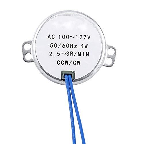 Synchronmotor, Wechselstrom 100-127V 50 / 60Hz 4W zur Belüftung von Ventilatoren, Heizung, Verkaufsregal, Kunsthandwerk, Lampen, Beleuchtung, Spielzeug(2.5-3RPM)