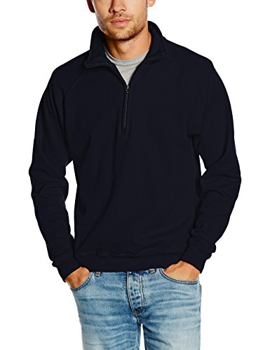 Fruit of the Loom SS029M, Sweat-Shirt Homme, Bleu (Bleu marine intense), X-Large