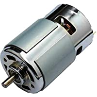Boosty® High Speed Low Noise RPM Torque 12V Brushed DC Big Strong Motor, DIY Project (Multicolor)