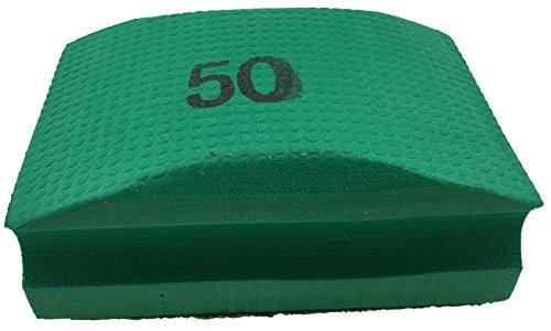 PRODIAMANT Profi Diamant-Handschleifpad / Schleifschwamm Körnung 50 zum schleifen, entgraten und polieren von Fliesenkanten