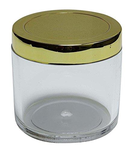 16 Pièces Vides En Plastique Transparent Bocaux Gros Rechargeables Cosmétiques Bocaux De Conteneurs De Stockage Avec Bouchon D'Or 3,51 Oz