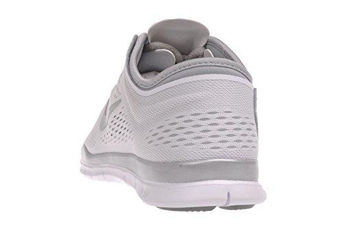 Nike Free 5.0 Print, Chaussures de running entrainement femme White/Mtllc Silver/Mtllc Slvr