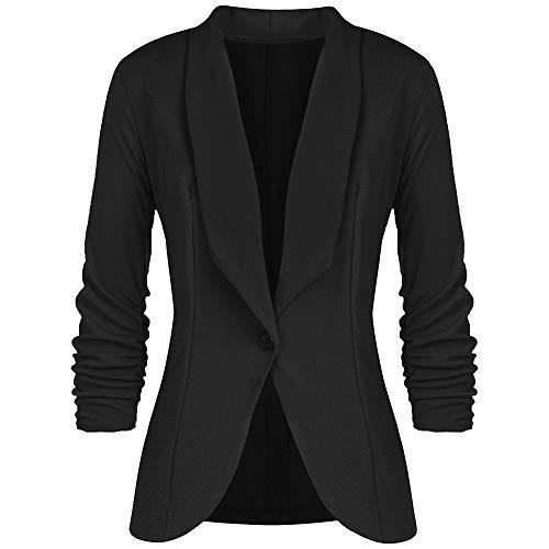 783f268db9c ZODOF Chaqueta Casual de Moda para Mujer Abrigo Elegante del Traje Delgado  de Las Mujeres del