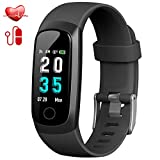Trswyop Fitness Tracker, Activity Tracker Smart Bracelet with Heart Rate Blood Pressure Monitor Waterproof IP67 Fitness Watch with Sleep Monitor, Step Tracker, Stopwatch for Kids Women Men