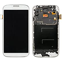 URNICE Pantalla LCD Reemplazo de Pantalla Táctil con Marco para Samsung Galaxy S4 I9505,Blanco