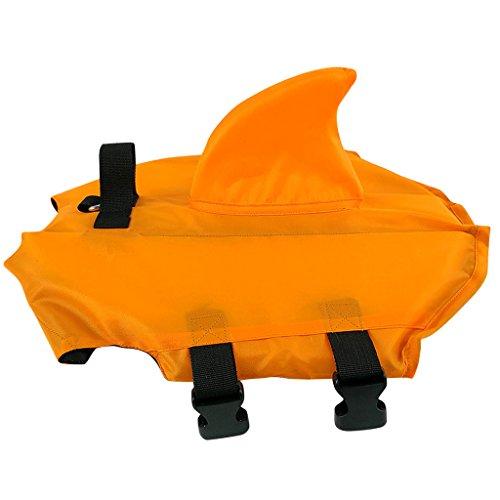 Hund Hündchen Schwimmweste - Haustier Rettungsweste Schwimmmantel Lebensretter Sicherheit Lebensretter zum Schwimmen mit Verstellbare Schnalle Blau Orange Multi-Größe -
