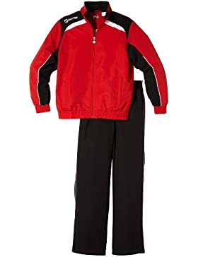 Lotto Sport Trainingsanzug Suit Assist MI JR - Chándal de fútbol para niño, color rojo, talla XL
