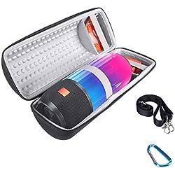 LhuaguoSac de rangement Mini sac de rangement antichoc Housse de protection Poche Shell Accessoires de voyage portables pour JBL Pulse 3 Haut-parleur sans fil Bluetooth