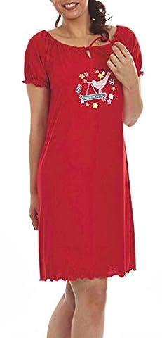 Graziella Nachthemd Katja 95 cm lang Sleepshirt mit Kräuselsaum 56/58 Nachtwäsche 100% Baumwolle