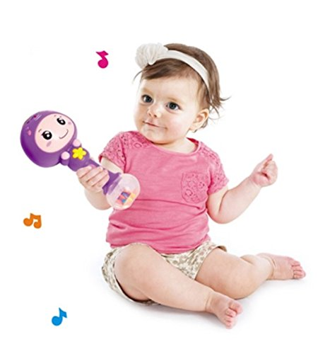 RIANZ All New Imported Huile Colorful Baby Rattle Stick with Amazing Sound (Color as per availability)