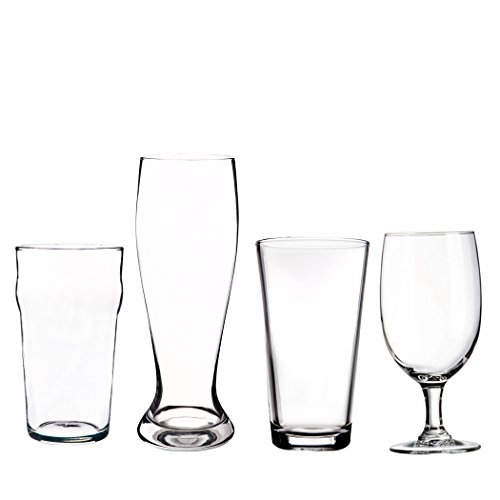 Home Essentials and Beyond Inc 4 Stück geformte Bier Glas Set