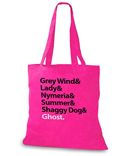 StyloBags Jutebeutel / Tasche Grey Wind & Lady & Nymerial & Summer & Shaggy Dog & Ghost Pink