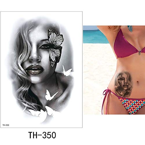 HXMAN 5 Pc Temporaneo Tatuaggio Adesivo Bella Falso Tatoo Donna Flash Tatuaggio Impermeabile Piccolo Corpo Arte Uomini Donne Th Link 05 TH-350