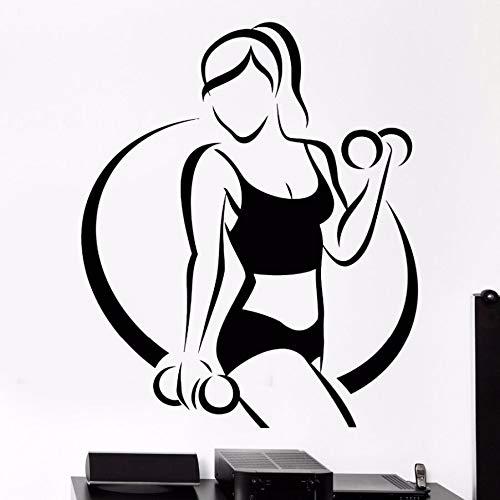 9d1ada94ca 42 * 51cm Fitness Gym Sport Wall Decal vinilo pegatinas Pegatinas de  decoracion chica hermoso cuerpo