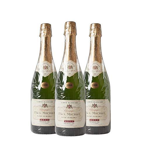 Champagne Blanc de Blanc brut Cru Paul Michel 2010 Winzer Jahrgangs Champagner trocken (3x 0.75 l)