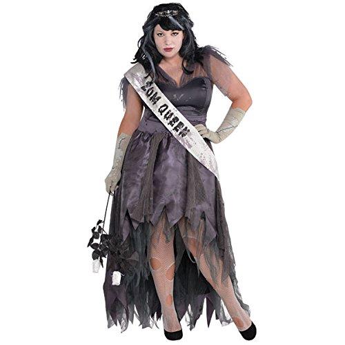 Tote Ballkönigin - Übergröße (Queen Tote Kostüm Halloween Prom)