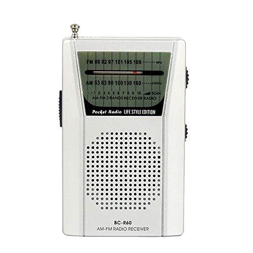Iwähle -Mini tragbare Tasche AM FM Radio Lautsprecher Teleskopantenne 3,5 mm Kopfhöreranschluss