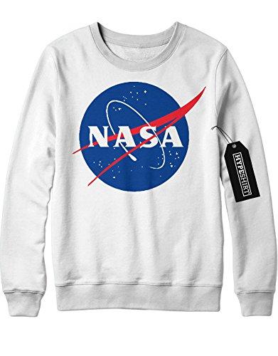 Sweatshirt NASA Interstellar Galaxy Astronaut Space Hipster Dreieck Triangle Noir Nebula Sterne H970011 Weiß (Astronaut Apollo Kostüm)