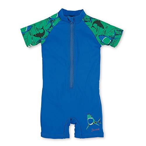 Sterntaler Kinder Jungen Schwimmanzug mit Windeleinsatz, Einteiler, UV-Schutz 50+, Alter: 9-12 Monate, Größe: 80, Blau