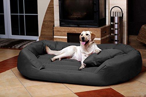 tierlando® S5-02 SAMMY Extra ROBUST Hundesofa Hundebett Gr. XXL 140cm Graphit Anthrazit - 3