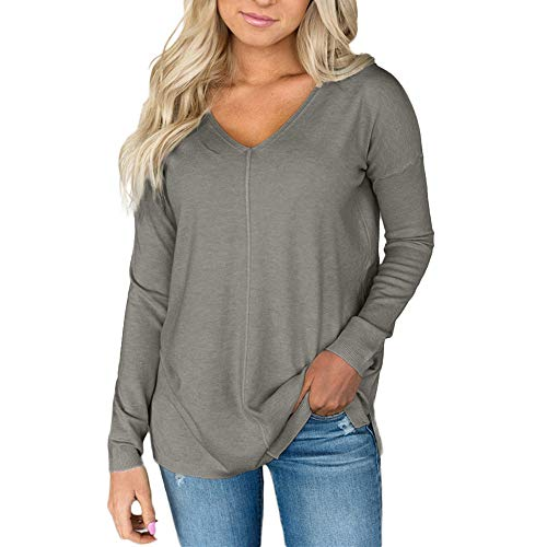 Cebbay Pull Femme T Shirt, Col en v,Sauteur, Automne Hiver   Pullover 8abf041ea3a