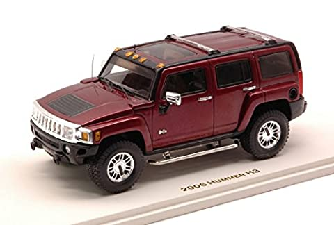 LUXURY LX10132 HUMMER H3 2006 SONOMA RED MET.1:43 MODELLINO DIE CAST MODEL