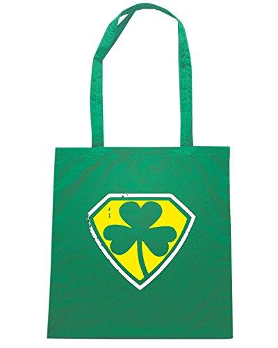 T-Shirtshock - Borsa Shopping OLDENG00841 irish superhero Verde