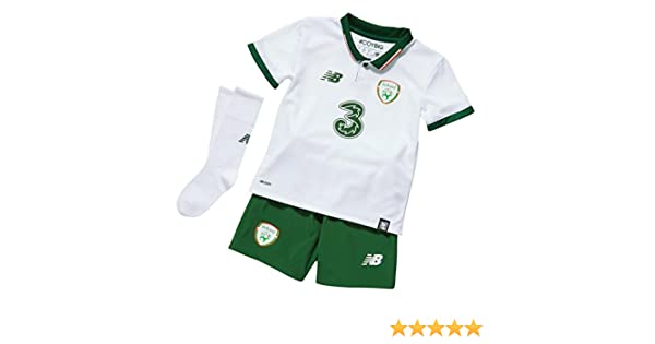 56e122bdf92 New Balance Children s Official Fai Ireland Home Baby Soccer Kit With Jersey Shorts Socks   Amazon.co.uk  Sports   Outdoors