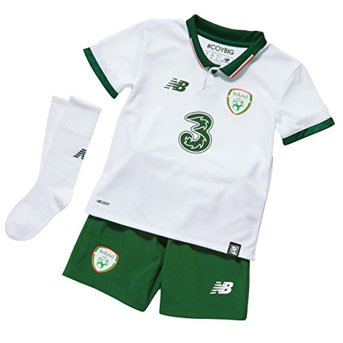 New Balance Kids Official Fai Ireland Baby Soccer Kit with Jersey Shorts Socks  White  12-18 m