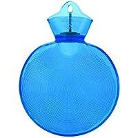 Queta Wärmflasche, dick, medizinische Qualität, PVC, transparent, warm, wasserabweisend, explosionssicher blau dunkelblau