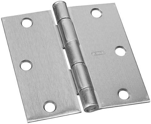 Stanley Hardware 7413–1/5,1cm quadratisch Ecke Wohn-Scharnier in Satin Nickel