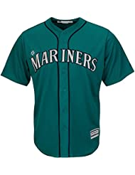 Majestic MLB Seattle Mariners Cool Base Maillot Alternate Vert