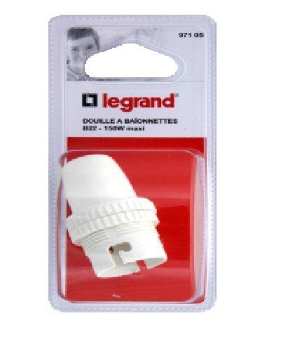 Legrand LEG97105 Douille plastique isolant avec bague pour Ampoule à baïonnette B22