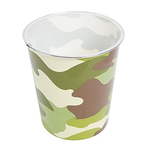 Poubelle de l'armée avec impression de camougflage. Parfait pour les