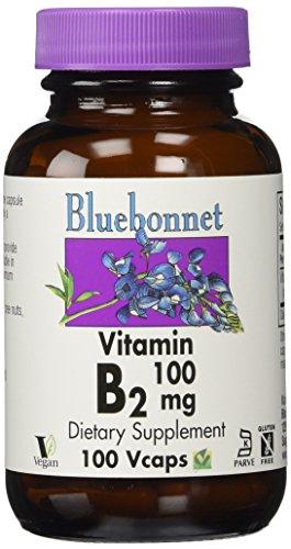 Bluebonnet Nutrition, Vitamine B-2, 100 mg, 100 Vcaps