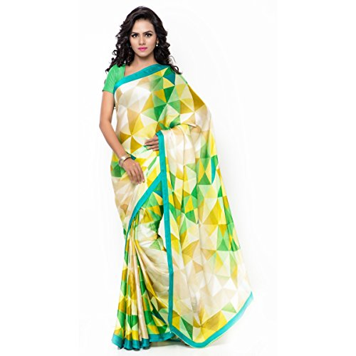 Triveni Crepe Sarees (XSCTSN1113A_Green)  available at amazon for Rs.340