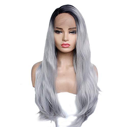 Morningsilkwig Geflochtenen Langen Synthetisches Haar Perücken 18inch länge Cosplay - lied von eis und Feuer Frauen Perücken (Long Grey)