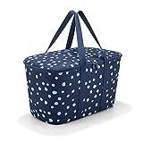 Reisenthel uh4044collerbag Spots Bleu Marine Panier de Courses Polyester 24,5x 44,5x 25cm