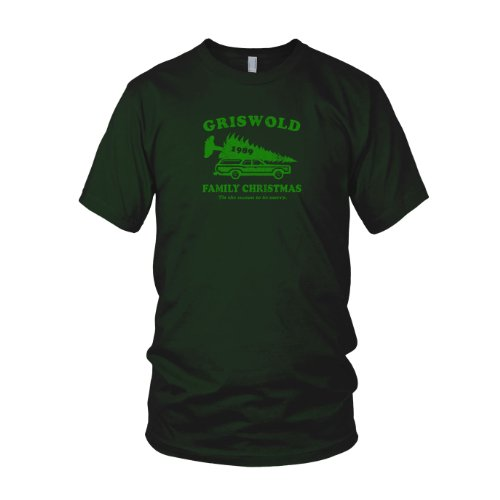 Planet Nerd - Griswold Family Christmas - Herren T-Shirt Flaschengrün