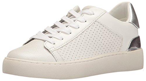 Nine West Damen Nwprokos Sneaker, Weiß (White/ White/ Silver), 41 EU (11 M)