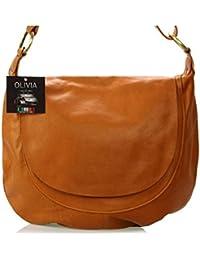 Olivia - Handbag Leather Louisiana N1768 - Sac à main Cuir marron/camel - Bandouliere 60/120 cm