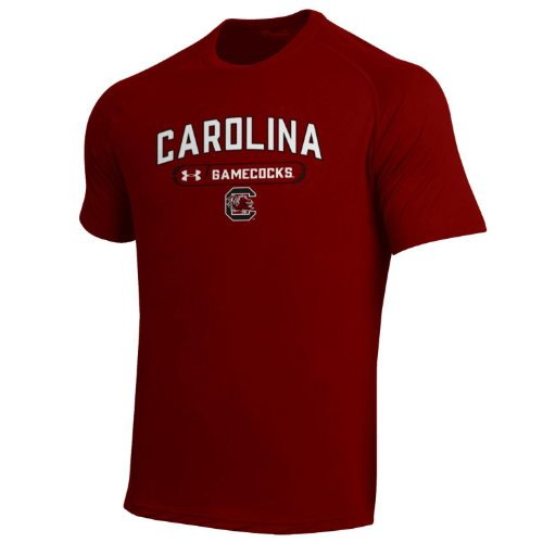 Under Armour NCAA Herren Tech Tee, Herren, Scharlachrot, Small -