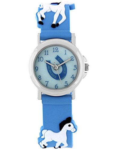 Gutes Kostüm Pferd - Pacific Time Mädchen Uhr analog Quarz mit Silikonarmband 86261