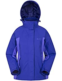 Mountain Warehouse Storm 3 in 1 Womens Waterproof Jacket - Multiple Pockets, Detachable Fleece Ladies Jacket, Rain Jacket - Ideal All Season Outer in Cold Weather