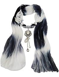 Transer ® Femelle Écharpes,Femmes Pendentif Unique Écharpe Tassel strass  Bijoux Foulards 5d3f00b6c92