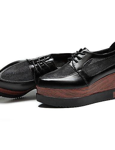 ZQ hug Scarpe Donna-Sneakers alla moda-Formale / Casual / Sportivo / Serata e festa-Zeppe / Creepers-Zeppa-Tulle-Nero / Argento , silver-us8.5 / eu39 / uk6.5 / cn40 , silver-us8.5 / eu39 / uk6.5 / cn4 black-us5 / eu35 / uk3 / cn34