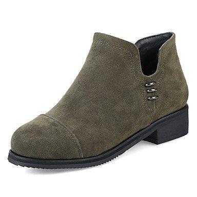 Wuyulunbi@ Scarpe Donna Stivali Inverno Comfort Informale Party & Abito Da Sera Comfort Zipper Chunky Heel Verde Giallo Nero 1A-1 3/4In Noi11 / EU43 / UK9 / CN44